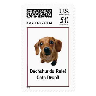 Dachshunds Rule! Cats Drool! Postage