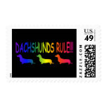 Dachshunds Rule - Customized Postage Stamps