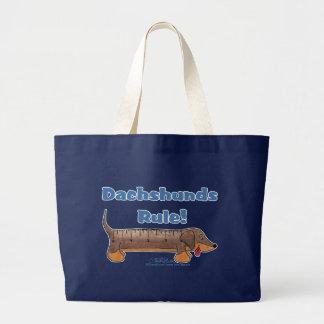 Dachshunds Rule Jumbo Tote Bag