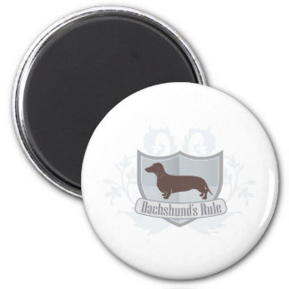 Dachshunds Rule ! 2 Inch Round Magnet