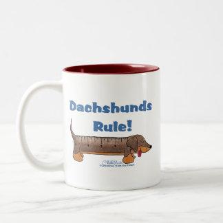 Dachshunds Rule Two-Tone Coffee Mug