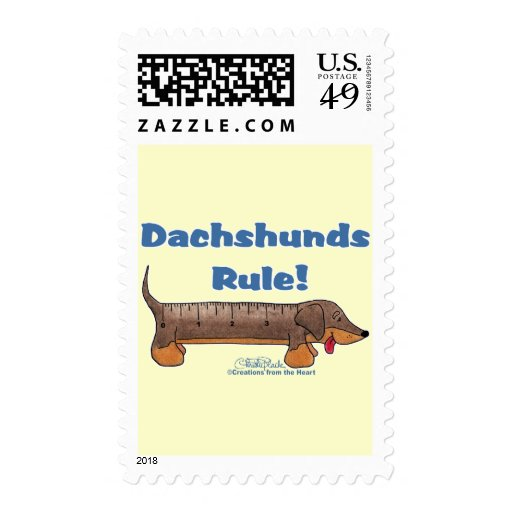 Dachshunds Rule Postage