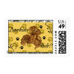 Dachshunds Rule!! Postage stamp