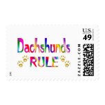Dachshunds Rule Postage Stamp