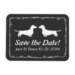 Dachshunds Save the Date Flexible Magnet