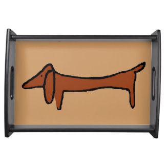 Dachshunds  Serving Tray