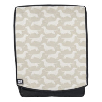 Dachshunds Silhouette Pattern Backpack