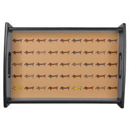 Dachshunds Tiled Serving Tray