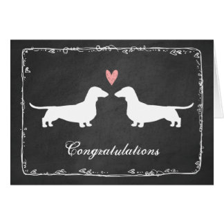 Dachshunds Wedding Congratulations Card