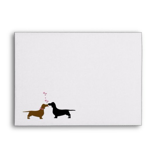 Dachshunds Wedding Invitation Custom Envelope