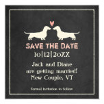Dachshunds Wedding Save the Date 5.25x5.25 Square Paper Invitation Card