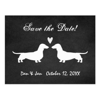 Dachshunds Wedding Save the Date Postcard