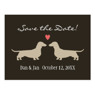 Dachshunds Wedding Save the Date Postcard