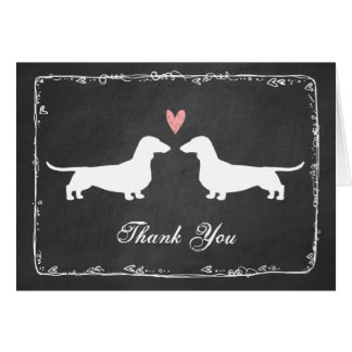 Dachshunds Wedding Thank You Stationery Note Card