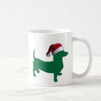 Dachshunds with Christmas Hats Coffee Mug