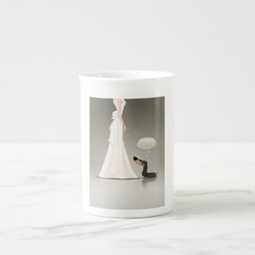 Wedding Themed Dachsund and Bride Tea Cup