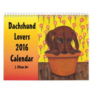 Dachsund Lovers Illustrated Art Calendar 2016