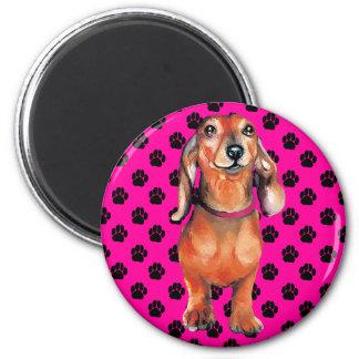 Dachsund Red Doxie 2 Inch Round Magnet