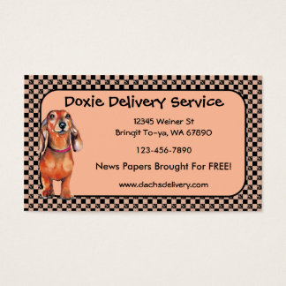 Dachsund Red Doxie Business Cards