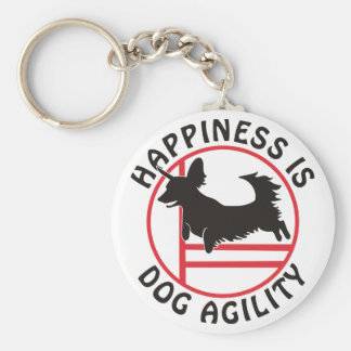 Dachsy Agility Happiness Basic Round Button Keychain