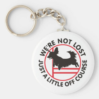Dachsy Agility Off Course Basic Round Button Keychain