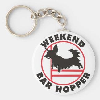 Dachsy Agility Weekend Bar Hopper Basic Round Button Keychain