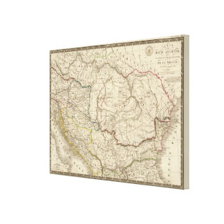 Dacia viejo, Pannonia, Illyria, Moesia Impresión De Lienzo