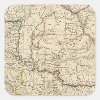 Dacia viejo, Pannonia, Illyria, Moesia Pegatina Cuadrada