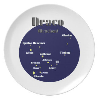 daco dark-blue dinner plate