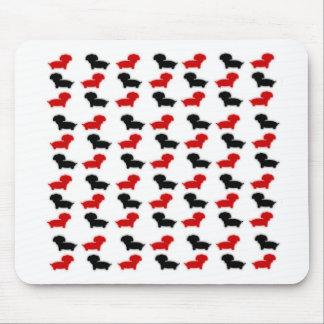Dacshund logo mousepads