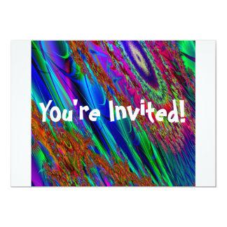 Dactyl Fractyl Fractal Art Invitation