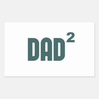 Dad2 Dad Squared Exponentially Rectangular Sticker