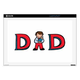 """Dad 17"""" Laptop Decal"""