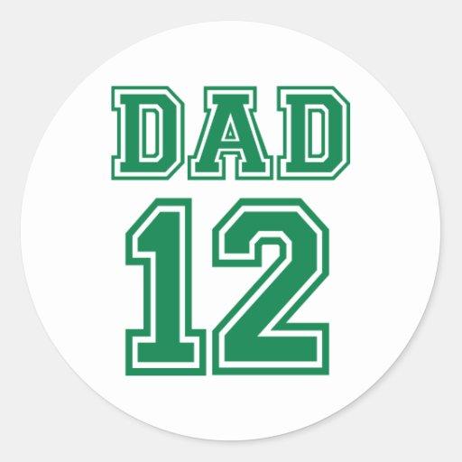 Dad 2012 round stickers