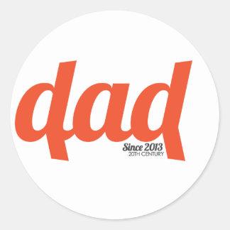 Dad 2013 classic round sticker