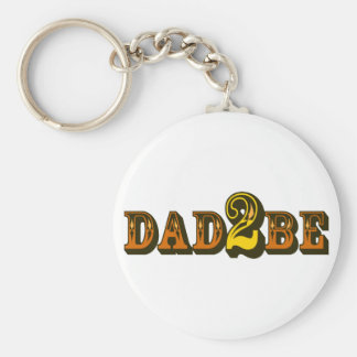 Dad 2 Be Keychain