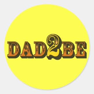 Dad 2 Be Classic Round Sticker
