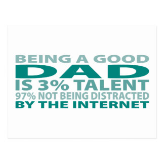 Dad 3% Talent Postcard
