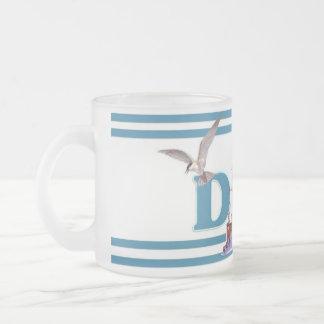 Dad Ahoy 10 Oz Frosted Glass Coffee Mug