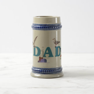 Dad Ahoy 18 Oz Beer Stein