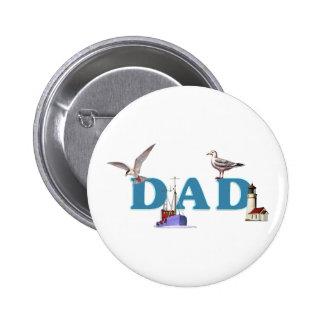 Dad Ahoy 2 Inch Round Button