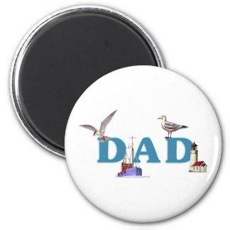 Dad Ahoy 2 Inch Round Magnet