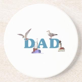Dad Ahoy Beverage Coasters