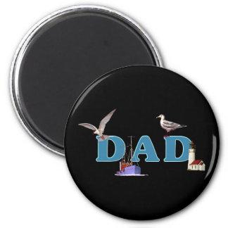 Dad Ahoy Fridge Magnet