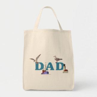 Dad Ahoy Grocery Tote Bag