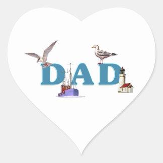 Dad Ahoy Heart Sticker