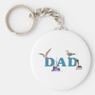 Dad Ahoy Key Chains
