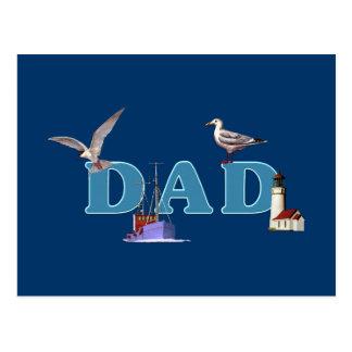 Dad Ahoy Postcard