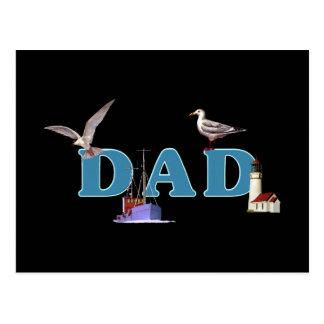 Dad Ahoy Postcards