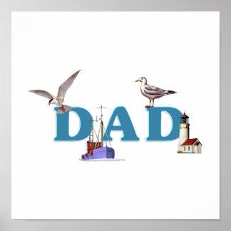 Dad Ahoy Poster